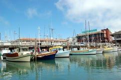 Embarcadero del pescador Fotos de archivo libres de regalías
