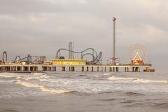 Embarcadero del placer de la isla de Galveston Fotos de archivo libres de regalías