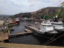 Embarcadero del puerto Fotografía de archivo
