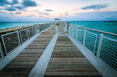 Embarcadero del sur de la playa Fotos de archivo