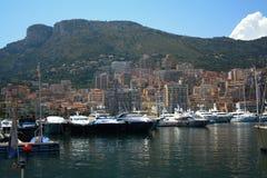 Embarcadero del yate de la belleza en Mónaco Imagen de archivo