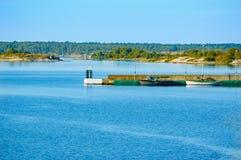Embarcadero en el archipiélago Imagen de archivo
