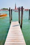 Embarcadero en el canal de San Marco, Venecia Imagen de archivo libre de regalías