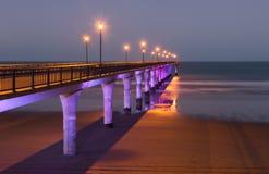 Embarcadero en el crepúsculo Foto de archivo libre de regalías