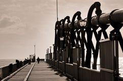 Embarcadero en el escupitajo - Queensland Australia de Gold Coast Foto de archivo