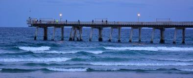 Embarcadero en el escupitajo - Queensland Australia de Gold Coast Foto de archivo libre de regalías