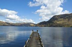 Embarcadero en el lago Fotos de archivo
