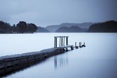 Embarcadero en el lago Ard Foto de archivo libre de regalías