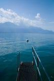 Embarcadero en el lago Lemán Fotos de archivo libres de regalías