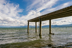Embarcadero en el lago Tahoe Fotos de archivo