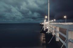 Embarcadero en el mar Imagen de archivo libre de regalías