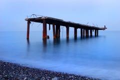 EMBARCADERO en el océano Fotos de archivo libres de regalías