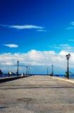 Embarcadero en el puerto de Parga, Grecia Fotos de archivo libres de regalías