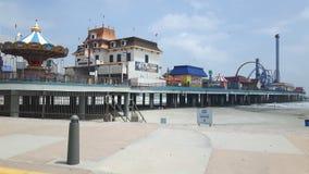 Embarcadero en Galveston Tejas Fotografía de archivo libre de regalías