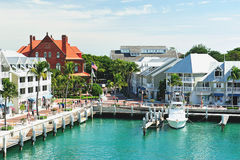 Embarcadero en Key West la Florida Imagen de archivo