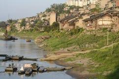 Embarcadero en la ciudad vieja de Bai Sha, China. Imágenes de archivo libres de regalías