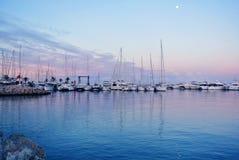 Embarcadero en la costa de España Foto de archivo