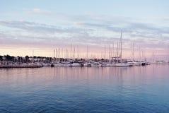 Embarcadero en la costa de España Imagen de archivo
