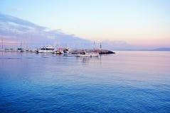Embarcadero en la costa de España Imagen de archivo libre de regalías