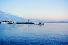 Embarcadero en la costa de España Fotografía de archivo libre de regalías