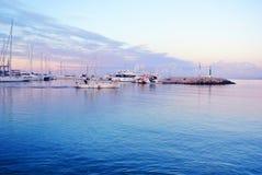 Embarcadero en la costa de España Imágenes de archivo libres de regalías