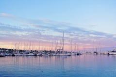Embarcadero en la costa de España Foto de archivo libre de regalías