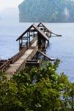 Embarcadero en la isla de James Bond Fotografía de archivo libre de regalías