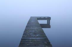 Embarcadero en la niebla Imagenes de archivo