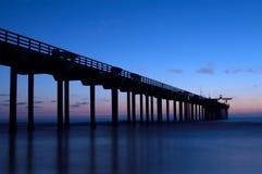 Embarcadero en la noche Fotografía de archivo libre de regalías