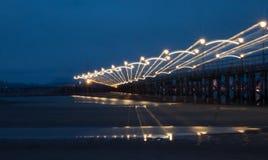 Embarcadero en la noche Imagen de archivo libre de regalías