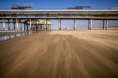 Embarcadero en la playa Imagenes de archivo