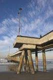 Embarcadero en la playa California de Venecia Imagenes de archivo