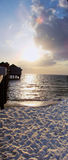 Embarcadero en la playa de Clearwater Imágenes de archivo libres de regalías