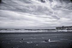 Embarcadero en la playa de Fernandina Imagenes de archivo