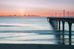 Embarcadero en la salida del sol Fotografía de archivo libre de regalías