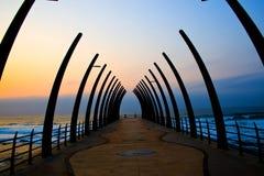 Embarcadero en la salida del sol Fotografía de archivo