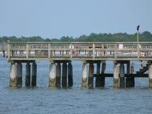 Embarcadero en Lewes, Delaware Foto de archivo