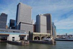 Embarcadero en Nueva York Imagen de archivo