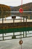 Embarcadero en parque nacional de los lagos Plitvice Imágenes de archivo libres de regalías