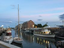 Embarcadero en Portland, Maine Fotos de archivo libres de regalías