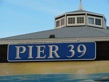 Embarcadero 39 en San Francisco Foto de archivo