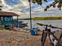 Embarcadero en Santa Cruz De Cabralia, Bahía - el Brasil Fotografía de archivo