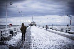 Embarcadero en Sopot imágenes de archivo libres de regalías