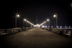 Embarcadero en Sopot imagenes de archivo