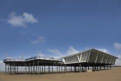 Embarcadero en Southport, Reino Unido Fotografía de archivo libre de regalías