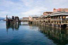 Embarcadero en Townsend portuario Washington Fotografía de archivo libre de regalías