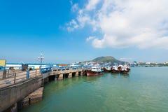 Embarcadero en Vungtau, Vietnam Fotografía de archivo libre de regalías