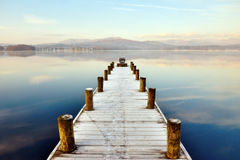 Embarcadero en Windermere, districto inglés del lago Imagen de archivo libre de regalías
