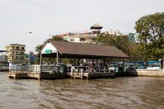 Embarcadero expreso de los barcos de Chao Phya Foto de archivo libre de regalías
