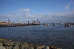 Embarcadero histórico en Antofagasta, Chile Imágenes de archivo libres de regalías